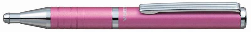 Ручка шариковая Zebra SLIDE (BP115-PK) авт. телескопич.корпус розовый синие чернила коробка подарочн