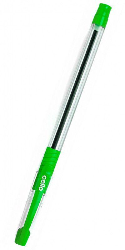 Ручка шариковая Cello SLIMO GRIP 0.7мм игловидный пиш. наконечник зеленый коробка