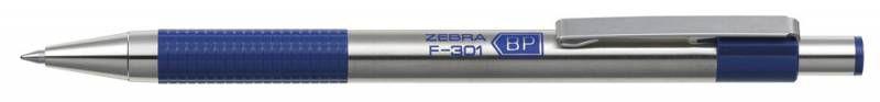 Ручка шариковая Zebra F-301 (F-301 BL) авт. 0.7мм корпус метал. синие чернила
