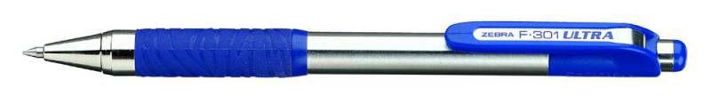 Ручка шариковая Zebra F-301 ULTRA (BNZ3-BK) авт. 0.7мм корпус метал. черные чернила