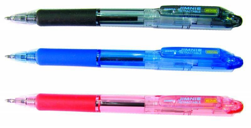 Ручка шариковая Zebra JIMNIE RETRACTABLE (KRBMZ-100-BK) авт. 1мм черный