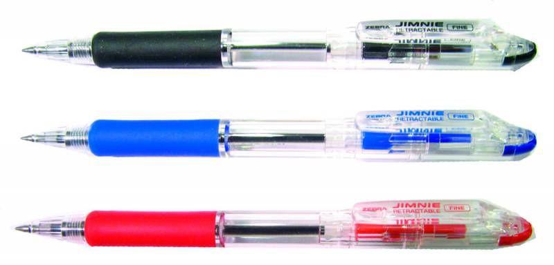 Ручка шариковая Zebra JIMNIE RETRACTABLE (KRBZ-100-BK) авт. 0.7мм черный