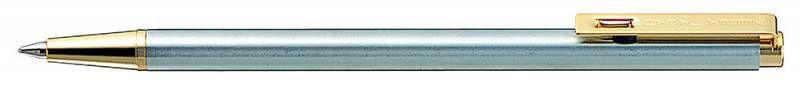 Ручка шариковая Zebra T-5 авт. 0.7мм корпус метал. черные чернила