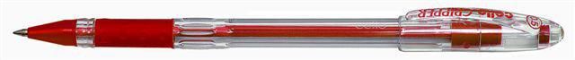 Ручка шариковая Cello GRIPPER 0.5мм резин. манжета красный индив. пакет с европодвесом
