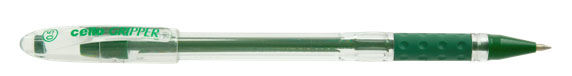 Ручка шариковая Cello GRIPPER 0.5мм зеленый индив. пакет с европодвесом