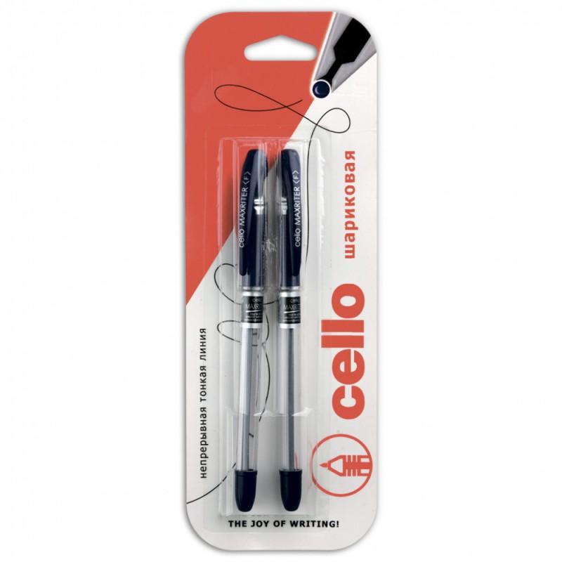 Ручка шариковая Cello MAXRITER 0.6мм синий/синий блистер (2шт)