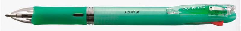 Ручка шариковая Zebra CLIP ON SLIM (B4A5) авт. четырехстерж. 0.7мм ассорти