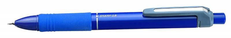 Ручка многофункциональная Zebra SHARBO SK+1 (SB5-BL) авт. резин. манжета синий
