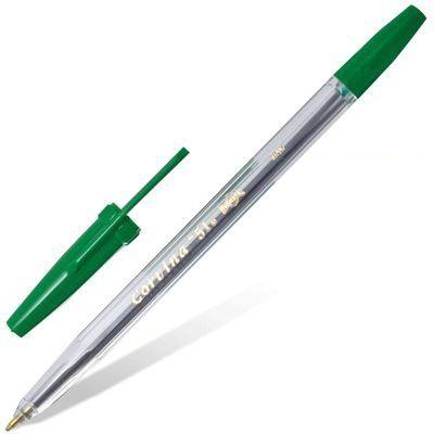 Ручка шариковая Corvina 51 (40163/04) 1мм прозрачный зеленые чернила