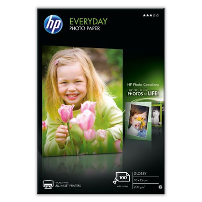 Бумага HP Q5441A 10x15 Everyday Semi-glossy Photo, 175 g/m, (100 sheets)