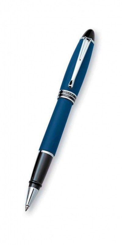 Ручка роллер Aurora Ipsilon корпус синий матовый отделка хром (AU-B70/B)