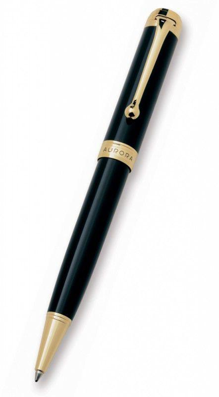 Ручка шариковая Aurora Talentum корпус черный отделка позолота (AU-D32/N)
