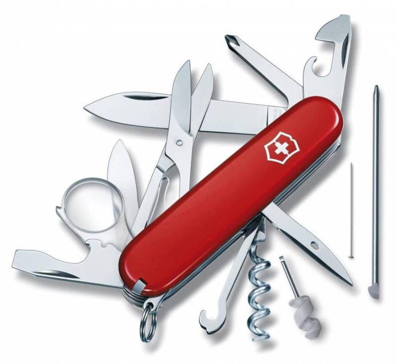 Складной нож VICTORINOX Explorer, 19 функций,  91мм, красный  [1.6705]