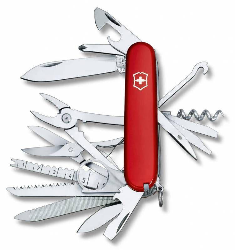 Складной нож VICTORINOX SwissChamp, 33 функций,  91мм, красный  [1.6795]