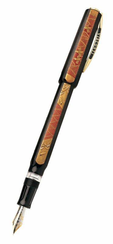 Ручка перьевая Visconti Four seasons корпус эбонит японская роспись Maki-e перо 18кт (Vs-455-02) [45502]