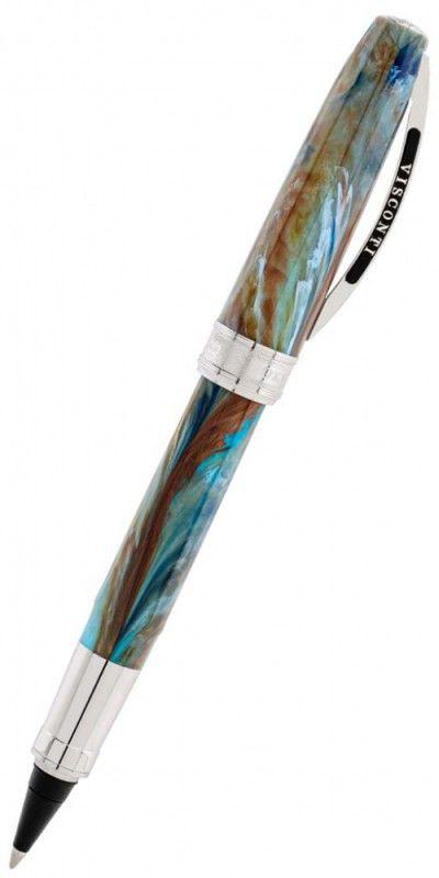 Ручка эко-роллер Visconti Van Gogh 2011 Автопортрет (78525) голубой подар.кор.