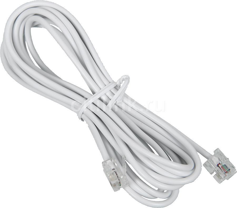 Кабель телефонный HAMA H-44935 3м, 1 шт,  белый