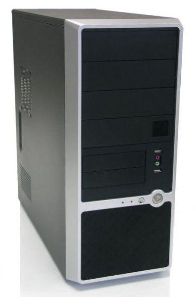 Корпус ATX FOXCONN TSAA-460, 400Вт,  черный и серебристый