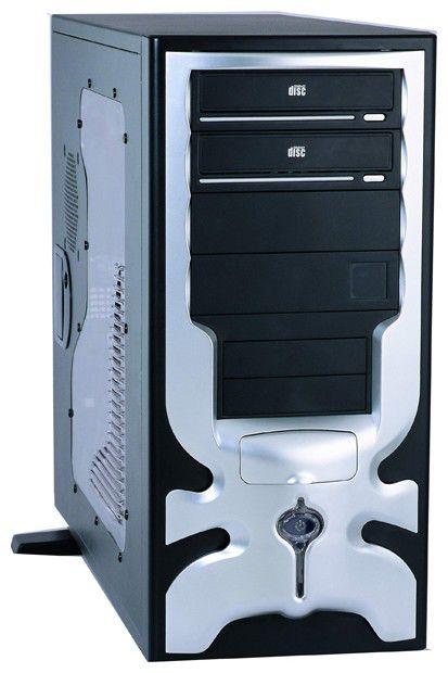 Корпус ATX FOXCONN TPS-230-2, 400Вт,  черный и серебристый