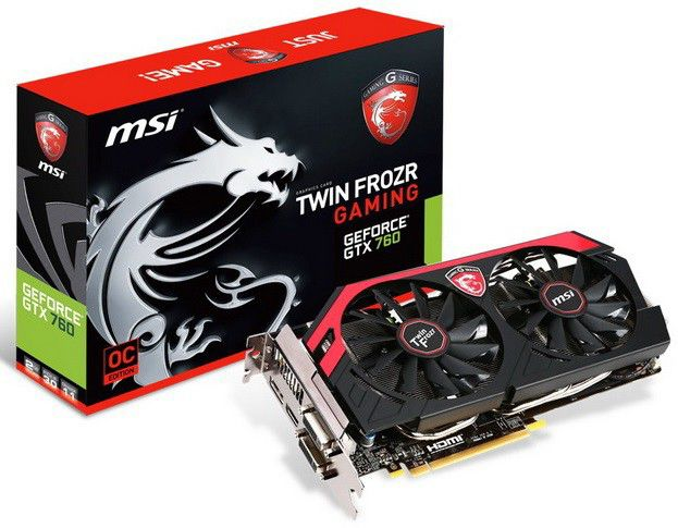 Видеокарта MSI GeForce GTX 760,  2Гб, GDDR5, Ret [n760 tf 2gd5]