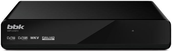 Ресивер DVB-T2 BBK SMP122HDT2,  черный