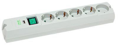 Сетевой фильтр MOST LRG-USB, 1.7м, белый [lrg-usb 5-1,7-б]
