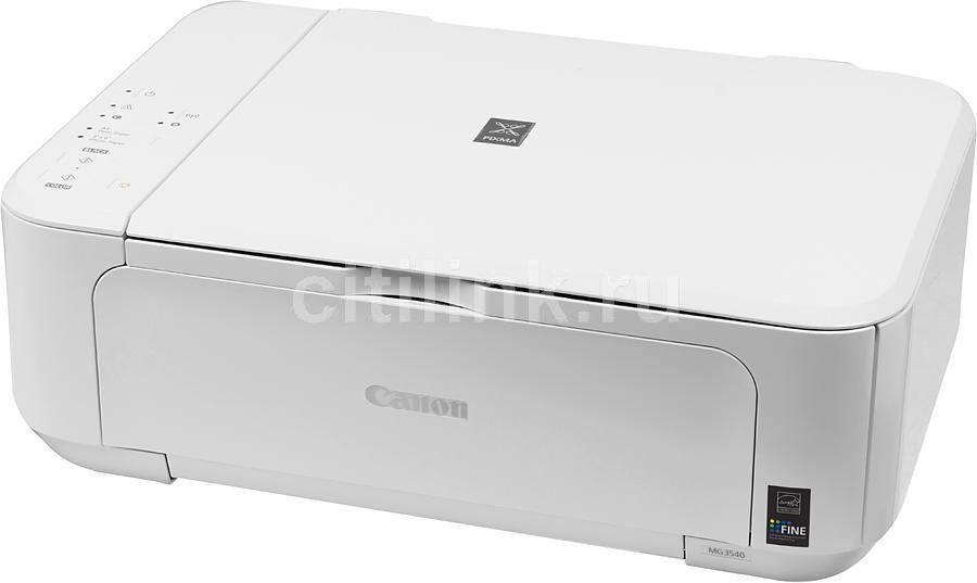 МФУ CANON PIXMA MG3540, A4, струйный, белый [8331b026]