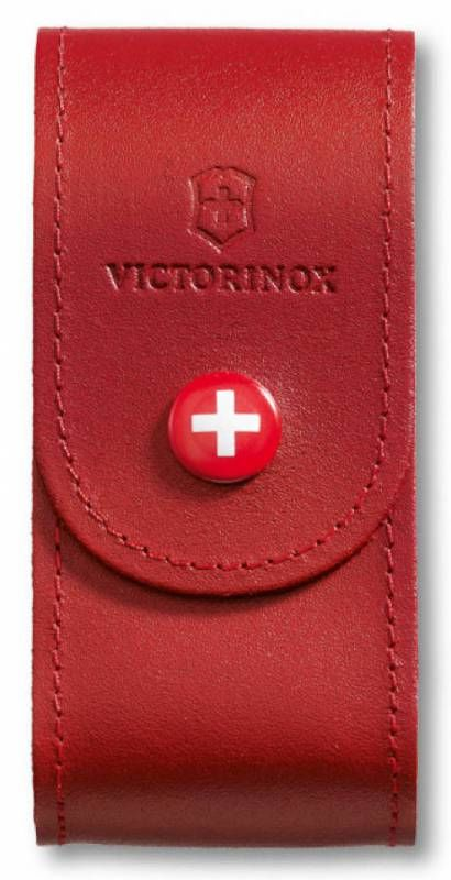 Чехол из нат.кожи Victorinox Leather Belt Pouch (4.0521.1) красный с застежкой на кнопке без упаковк