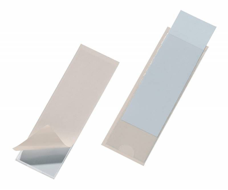 Карман самоклеющийся для маркировки папок Durable 8074-19 ПВХ 40х125мм прозрачный (упак.:10шт)