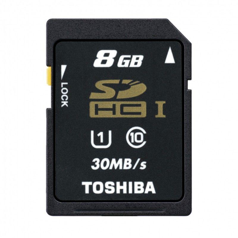 Карта памяти SDHC UHS-I TOSHIBA N301 8 ГБ, 30 МБ/с, Class 10, THN-N301R0080E4,  1 шт.