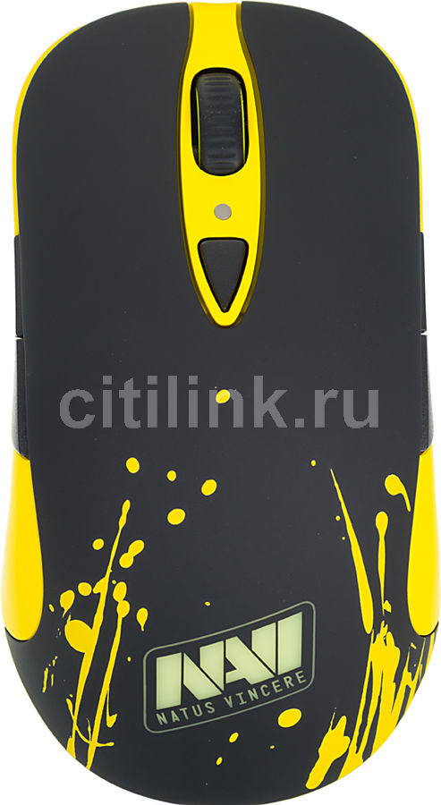 Мышь STEELSERIES Sensei Raw Navi лазерная проводная USB, желтый и черный [62164]