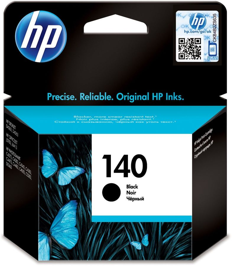 Картридж HP №140 черный [cb335he] картридж с чернилами compatible for hp 140 xl hp hp deskjet 5363 d4263 officejet 6413 j5783 photosmart c4283 c4343 c5283 d5363