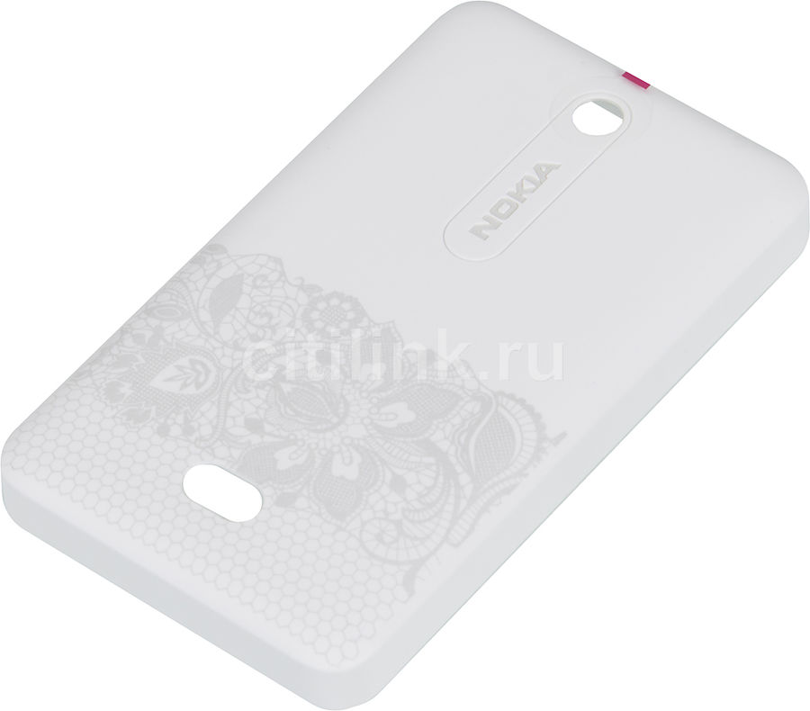 Чехол (клип-кейс) NOKIA CC-3070, для Nokia Asha 501, белый [02742g3]