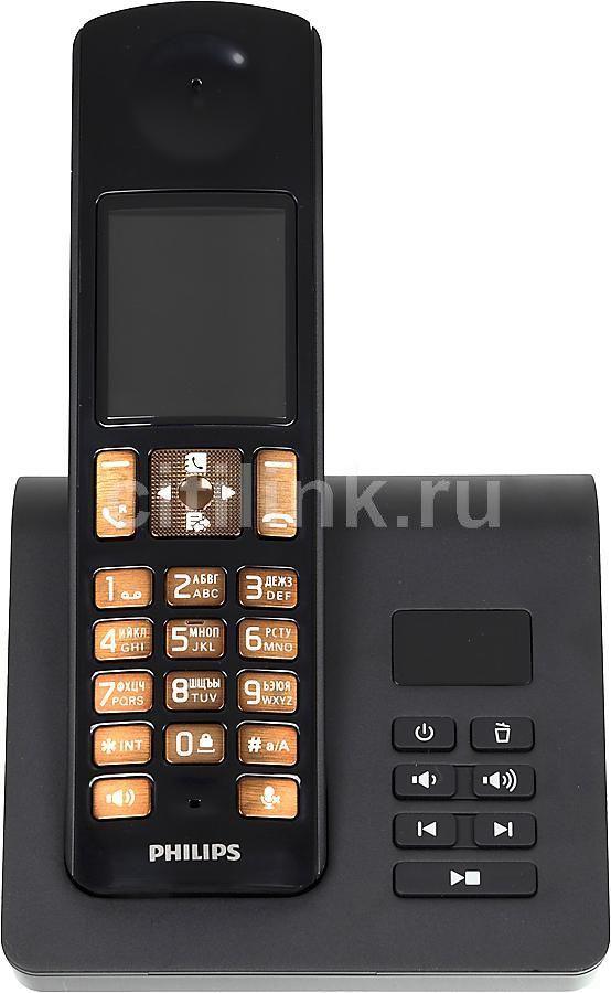Радиотелефон PHILIPS D7051B/51,  черный