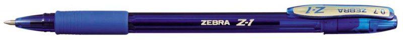 Ручка шариковая Zebra Z-1 Colour (C-BA26-ZA-BK) 0.7мм резин. манжета синий