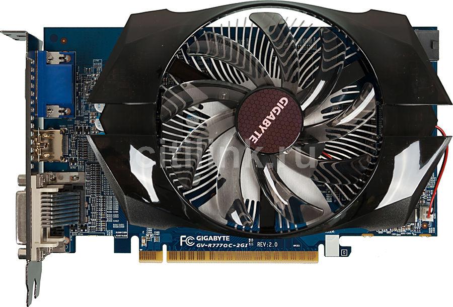 Видеокарта GIGABYTE Radeon HD 7770,  2Гб, GDDR5, OC,  Ret [gv-r777oc-2gi]