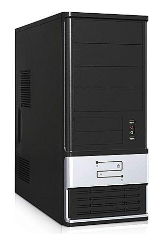 Корпус ATX FOXCONN TSAA-700, 350Вт,  черный и серебристый