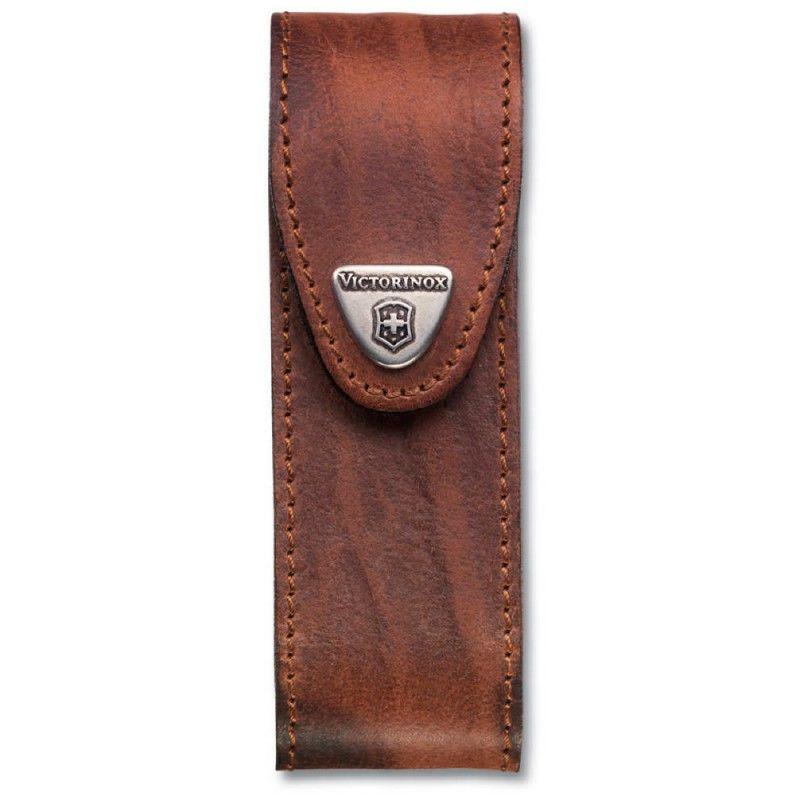 Чехол из нат.кожи Victorinox Leather Belt Pouch (4.0548) коричневый с застежкой на липучке без упако