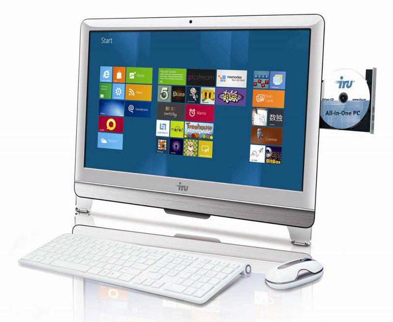 Моноблок IRU 309, Intel Core i3 3220, 4Гб, 1000Гб, Intel HD Graphics, DVD-RW, noOS, белый