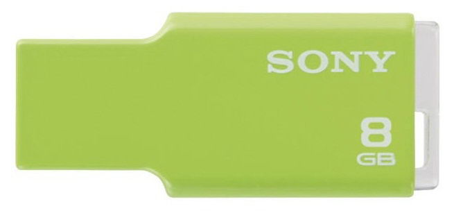 Флешка USB SONY Micro Vault Style 8Гб, USB2.0, салатовый [usm8gmg]