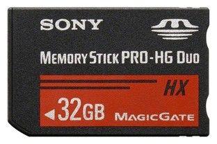 Карта памяти Memory Stick Pro HG Duo SONY HX 32 ГБ, MSHX32BT,  1 шт.