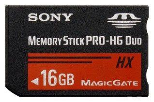 Карта памяти Memory Stick Pro HG Duo SONY HX 16 ГБ, MSHX16BT,  1 шт.