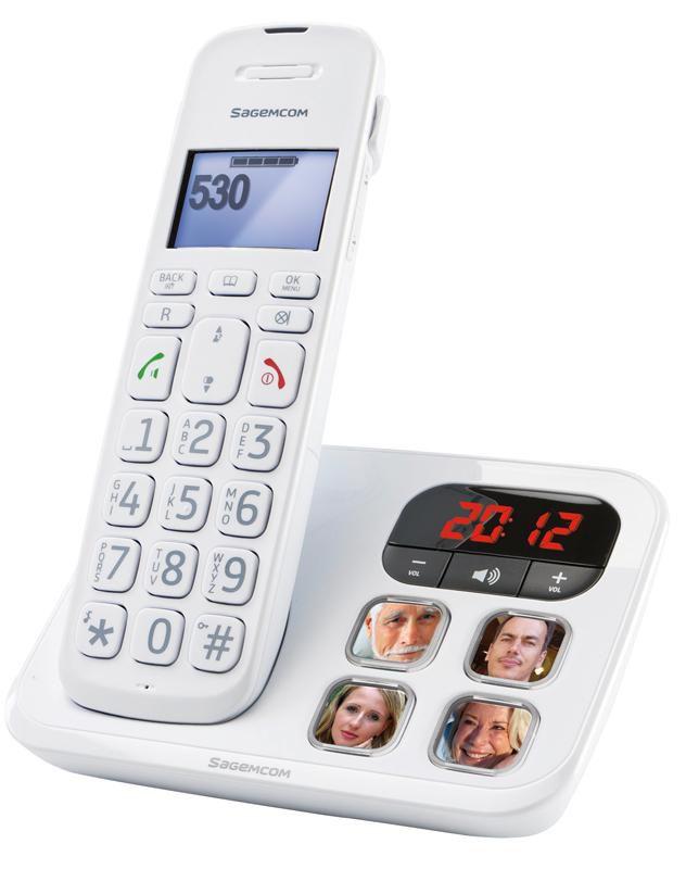 Радиотелефон SAGEMCOM D530P,  белый