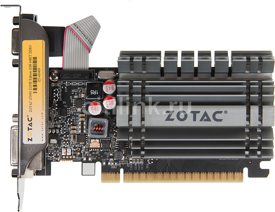 Видеокарта ZOTAC GeForce GT 630 ZONE Edition,  ZT-60409-20L,  2Гб, DDR3, Low Profile,  Ret