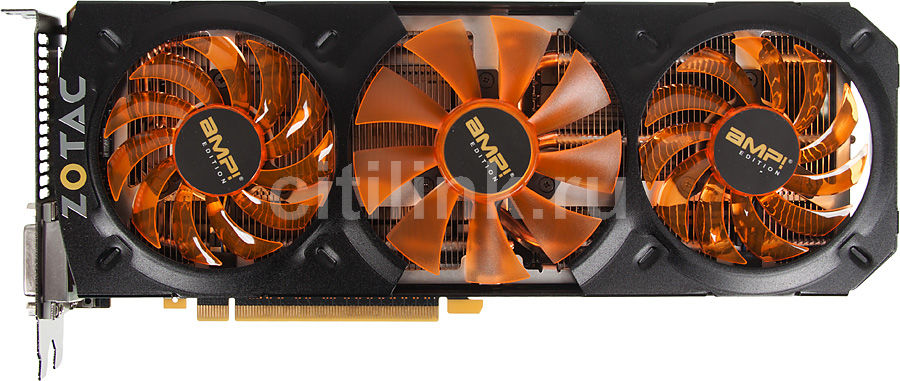 Видеокарта ZOTAC GeForce GTX 780 AMP! Edition,  ZT-70203-10P,  3Гб, GDDR5, OC,  Ret