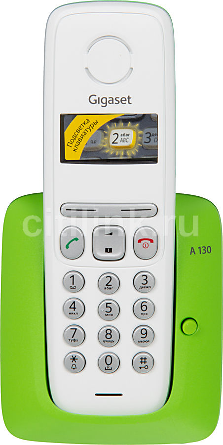 Радиотелефон GIGASET A130,  зеленый и белый [a130 green]