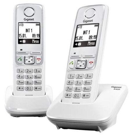 Радиотелефон GIGASET A420 DUO,  белый [a420 duo white]