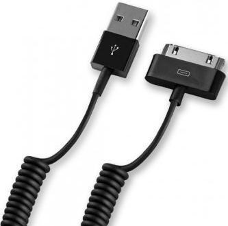Кабель DEPPA 72119,  Apple iPhone 3G/3GS/4/4S Apple iPad 1/2/3 Apple iPod touch (1-4), nano (1-6) 1.2м, черный,  USB -  30-pin (Apple)