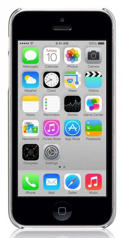 Чехол (клип-кейс) GGMM Proto-5C (ipc00301), для Apple iPhone 5c, серебристый