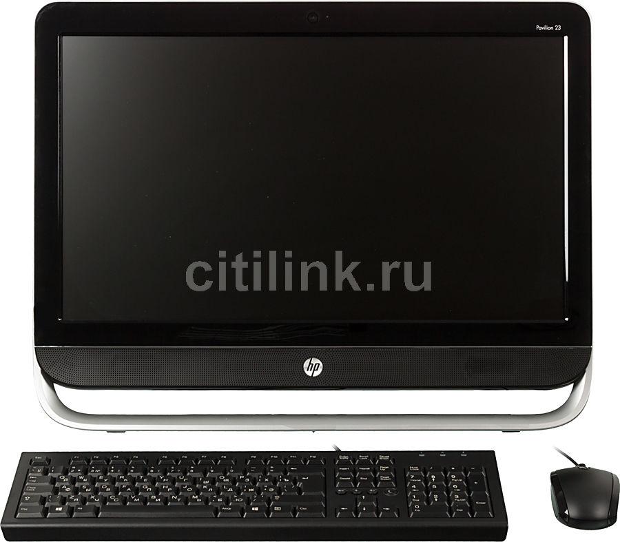 Моноблок HP Pavilion 23-b302er, Intel Core i3 3240, 4Гб, 1000Гб, nVIDIA GeForce GT710A - 1024 Мб, DVD-RW, Windows 8, черный и серебристый [d7e48ea]